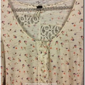 Free People Tops - We the free by free people floral print T-…